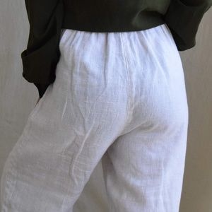 CLIO easy pull-on linen pants